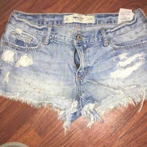 Abercrombie and Fitch short shorts, size 0, w25
